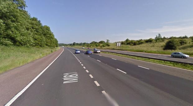 The Bolton News: The M61 northbound, near Rivington services. Picture from Google Maps.