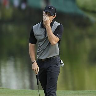 Rory McIlroy only just made the halfway cut at Augusta (AP)