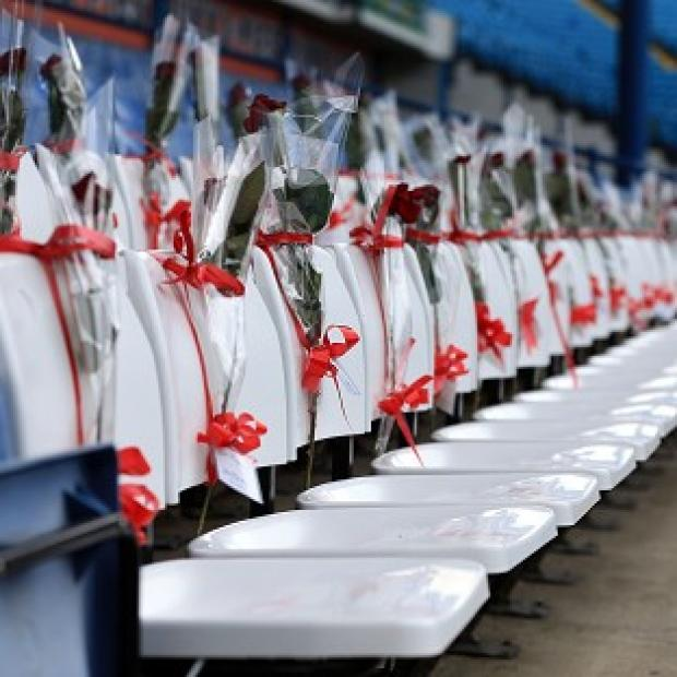 The Bolton News: Sheffield Wednesday have replaced 96 blue seats with white seats bearing red roses at Hillsborough