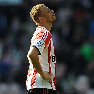 Sunderland's Wes Brown scored an own goal in his side's defeat to Everton