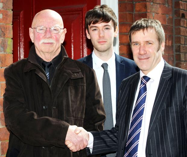 Ken Chaisty, Sean Heywood, paralegal, and Matthew Stokes, solicitor