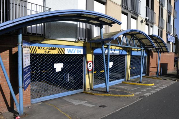 The Bolton News: The shutters are down at Bow Street multi-storey car park