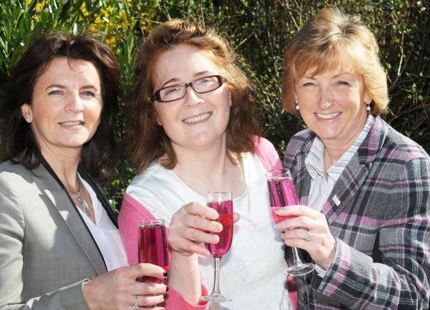 Here's to pink lunch success. From left, Joanne Crompton, director of George Grundy Estates, Maria Passarello, events manager, Bolton Hospice and Judith Bromley,  chairman of the hospice and partner at Russell and Russell Solicitors