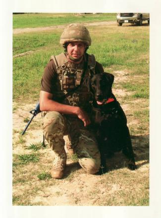 Adrian Dickson served in Afghanistan handling dogs that sniffed out IEDs