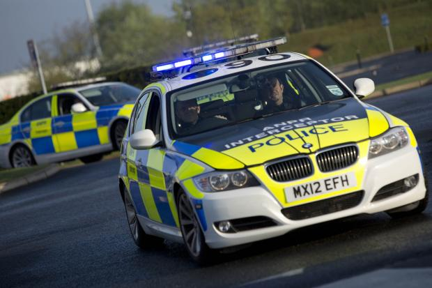 Police using ANPR technology in Operation Galileo
