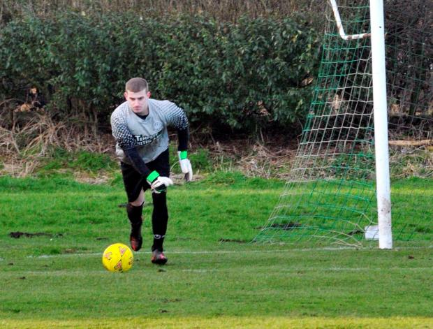 Goalkeeper Craig Tebay had a good header saved as Tempest pushed hard for the winner