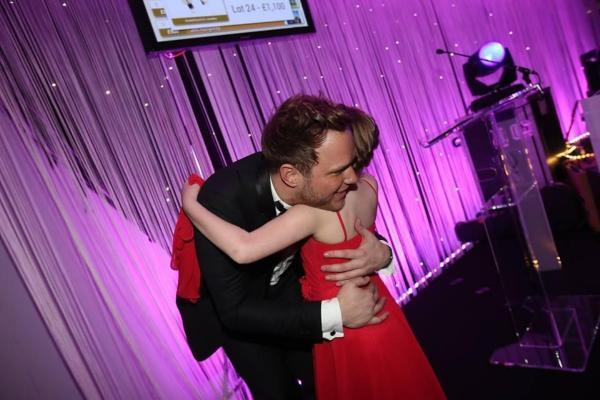 The Bolton News: Ellie was thrilled to have a hug and a kiss from Olly Murs
