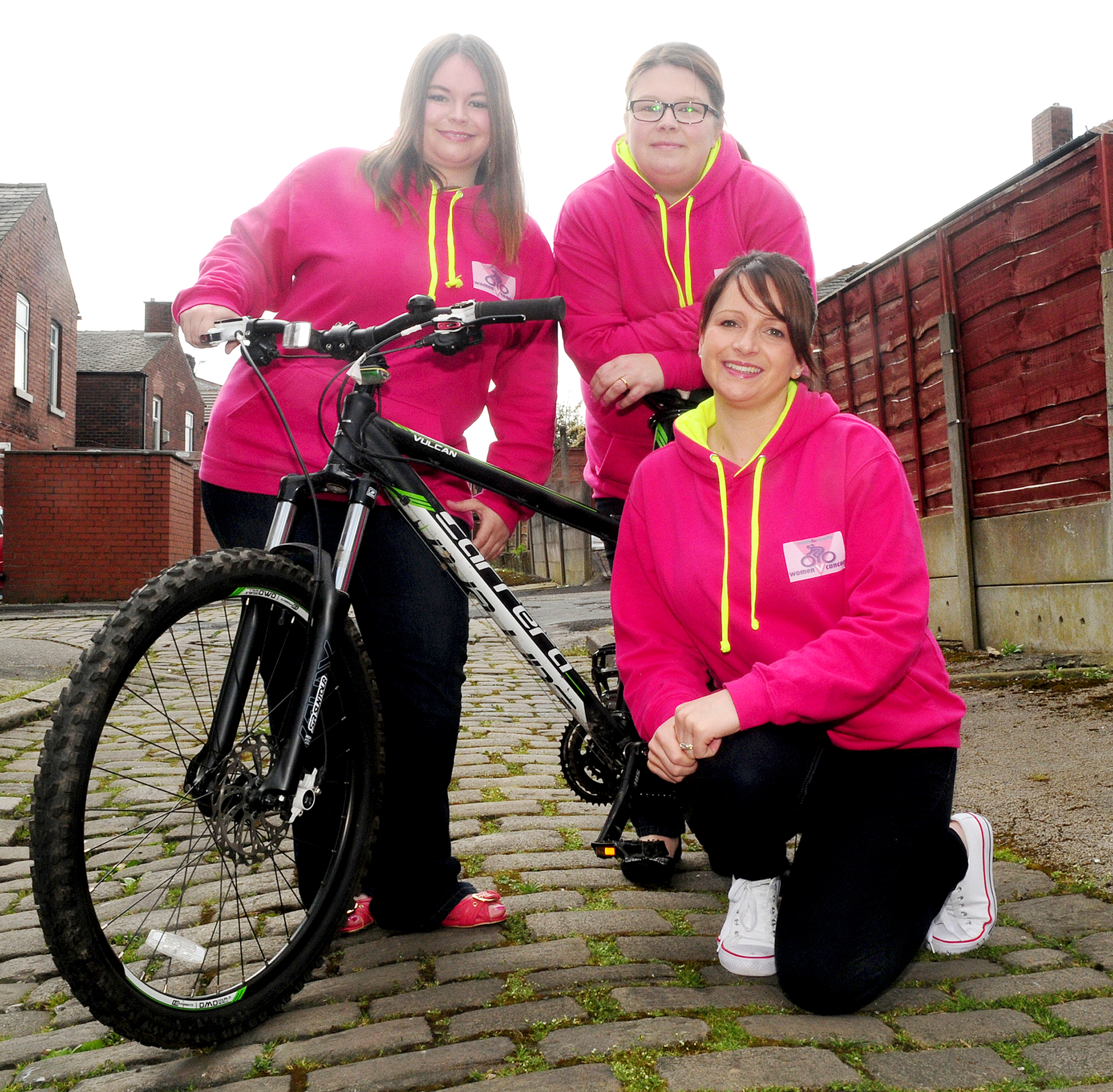 Michelle Leatham, Nicola Caffrey and Amy Russell