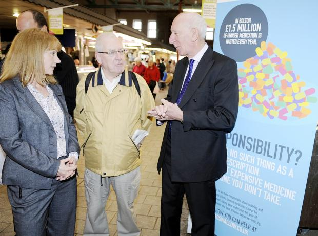 Dr Barry Silvert, right, and Dr Alison Lyon with shopper Keith Connor