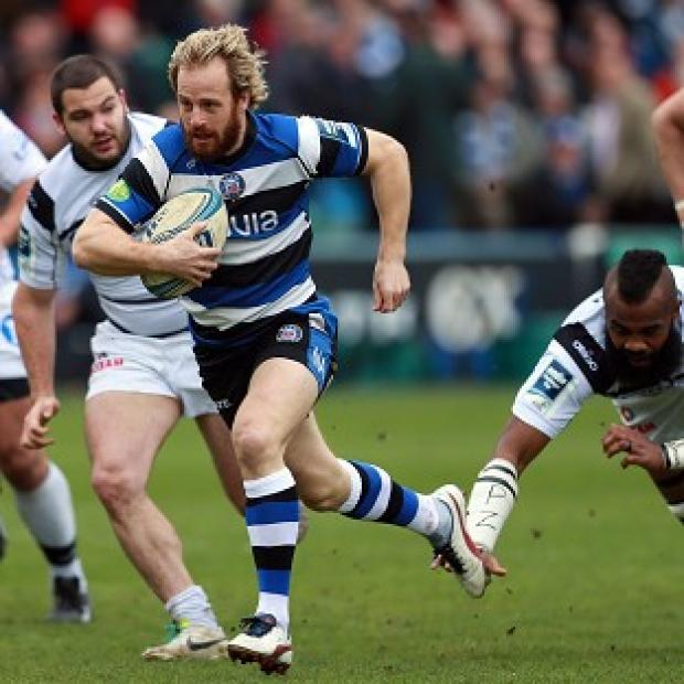 The Bolton News: Bath full-back Nick Abendanon, centre, will leave the west country club at the end of the season