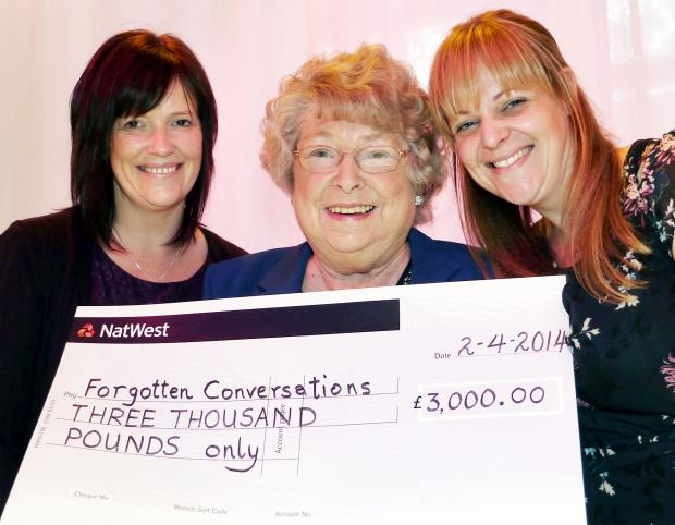 Pictured are, centre, Irene Roocroft chairman of Bolton Ladies' Fundraising Group with, left, Kathryn Williams and Sian Russell, both from Dementia Awareness.