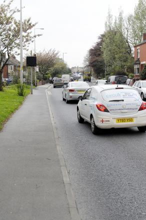 Traffic queueing in Hough Lane