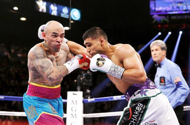 Amir Khan taking on Luis Collazo