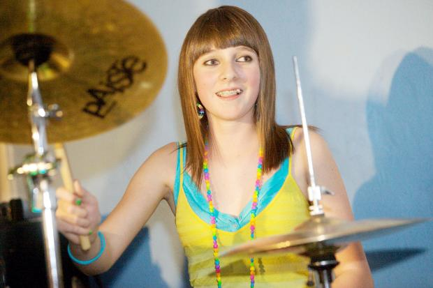 The Bolton News: Among those who have taken part previously in Rock It! is drummer Bethan Fielding