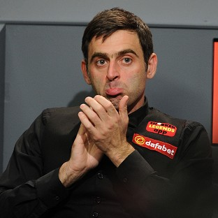 Ronnie O'Sullivan and his son were unhurt in the car accident