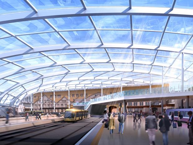 Artist's impressions of the new roof