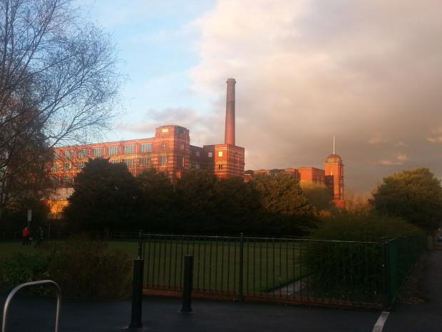 The grade II listed Leigh Spinners mill