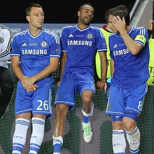 John Terry, left, has agreed a new Chelsea contract, but the futures of Ashley Cole, centre, and Frank Lampard, right, are still to be clarified