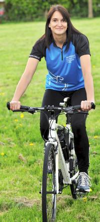 Joanne Lever prepares for her new cycling challenge
