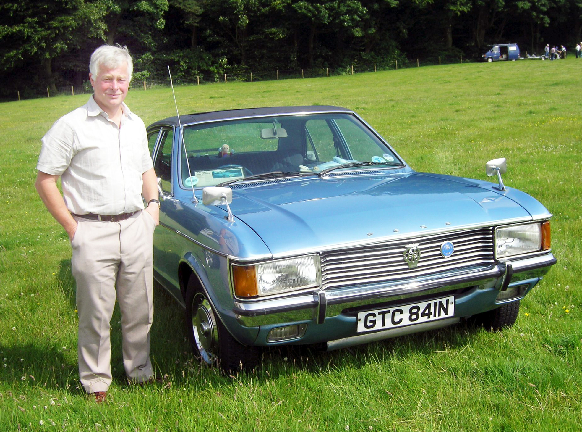 Dr Ian James with his 1975 Ford Granada