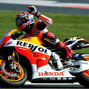 Marc Marquez raced up from 10th