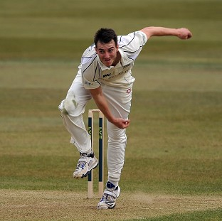 Toby Roland-Jones was the pick of the Middlesex bowlers