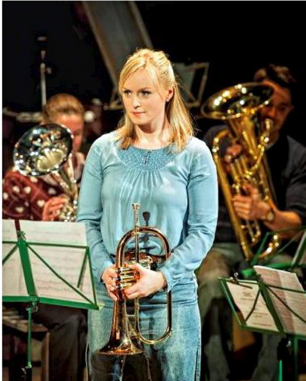 The Bolton News: Clara Darcy as Gloria in Brassed Off