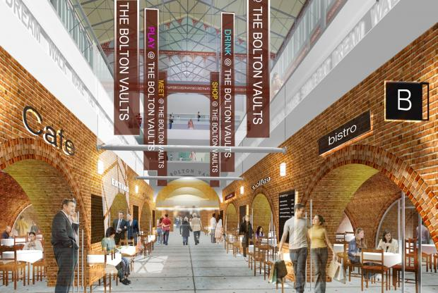 An artist's impression of how the revamped Market Place vaults will look