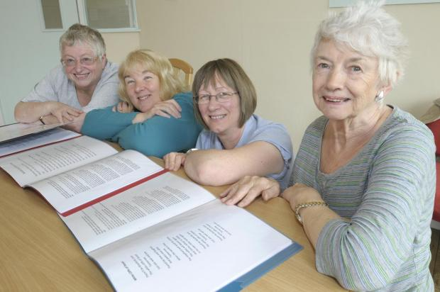 As in Eden CIC volunteers Chris Fitzsimmonds, Jan Harney, Val Hulme and Muriel Sager
