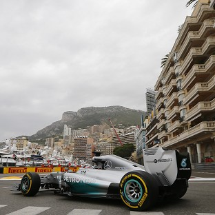 Mercedes driver Lewis Hamilton led the way in first practice for the Monaco Grand Prix (AP)