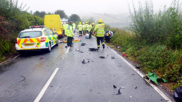 The Bolton News: The scene of the accident