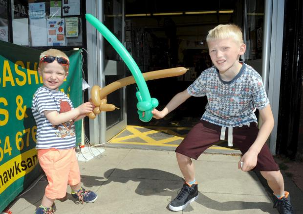 The Bolton News: Zakk, aged three, and Charlie Higgins, aged eight