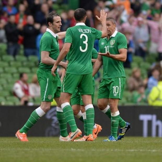 The Bolton News: Jon Walters, right, scored for Ireland but they fell to a loss against Turkey
