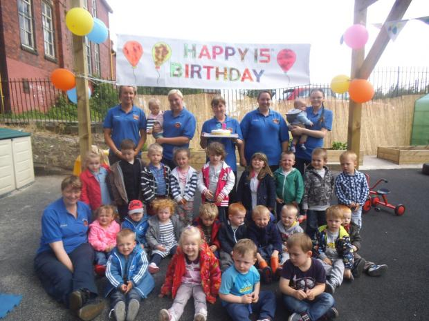 The nursery celebrated 15 years of success with a party