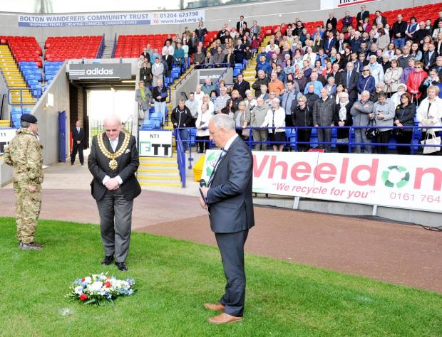 Families pay tribute to lost loved ones at Bolton Wanderers' remembrance service
