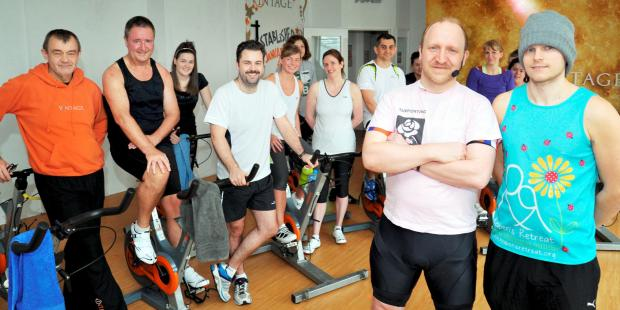 The Bolton News: Spin class raises £100 for Bolton Hospice
