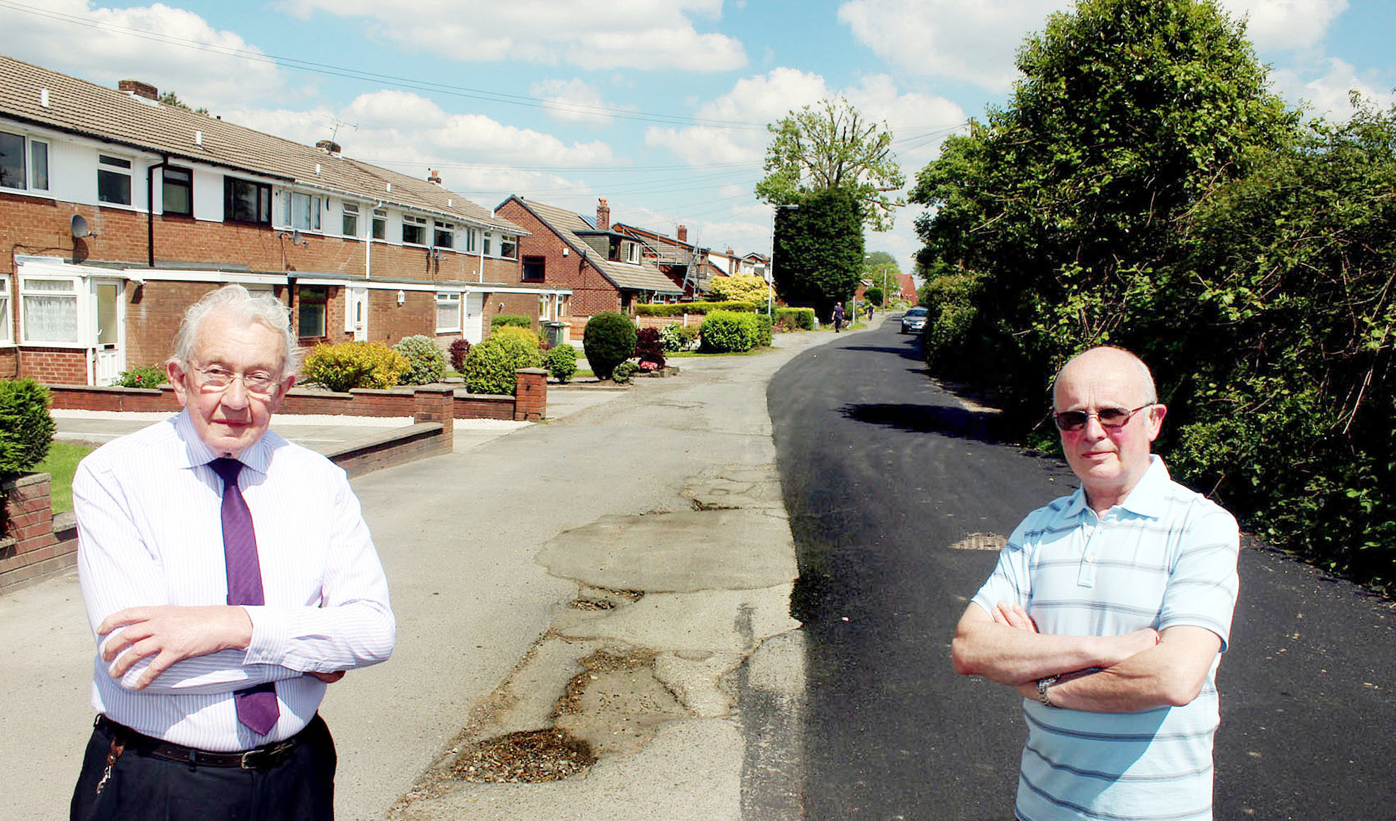 Residents baffled as workmen resurface only half of road