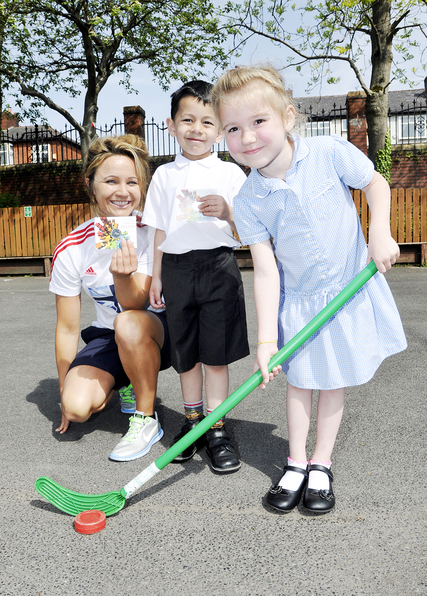 Hockey star Charlotte Hartley inspires Devonshire Road Primary kids