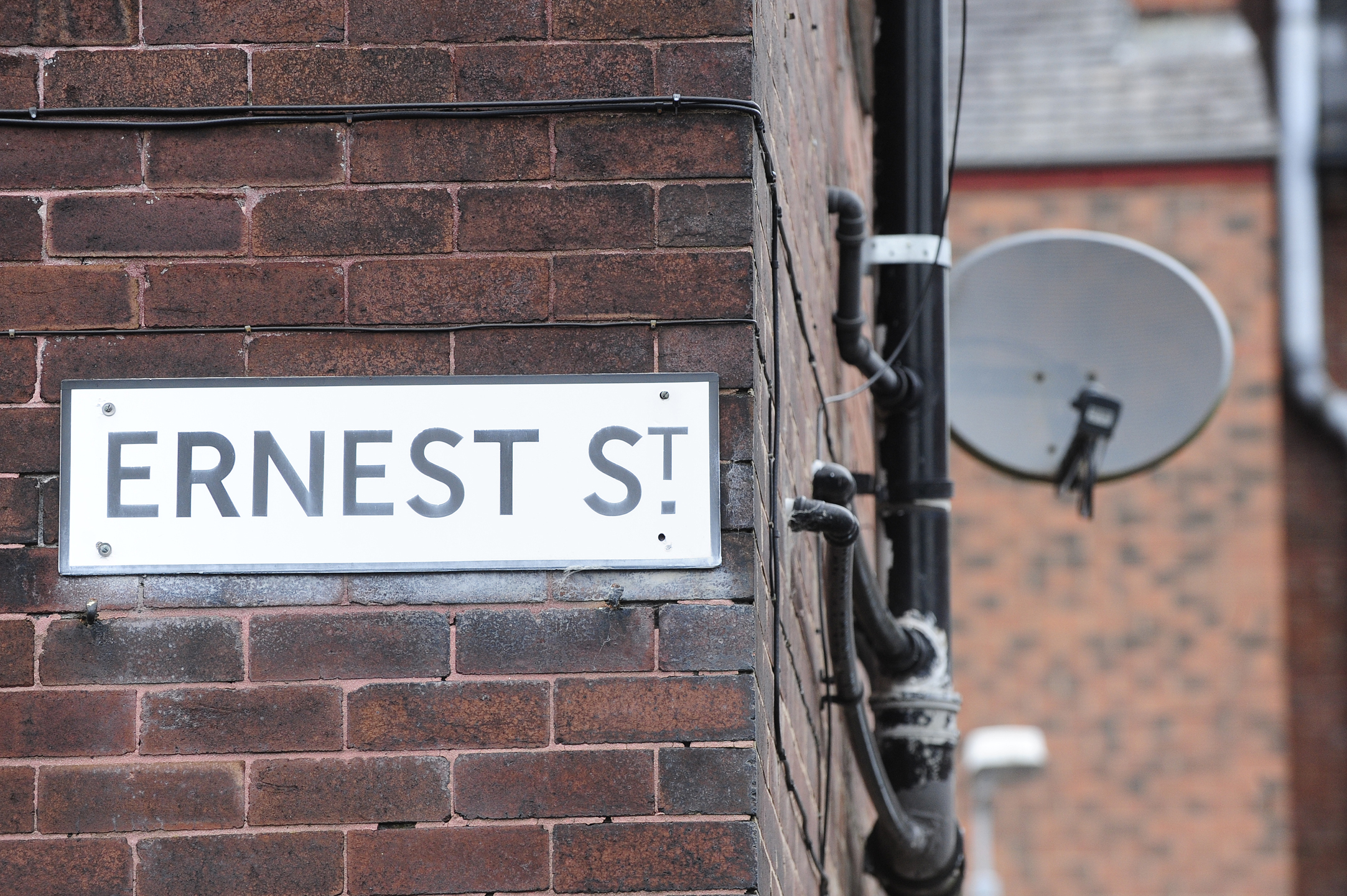 Ernest Street, Bolton, where a grandmother was pushed off her mobility scooter by a robber.