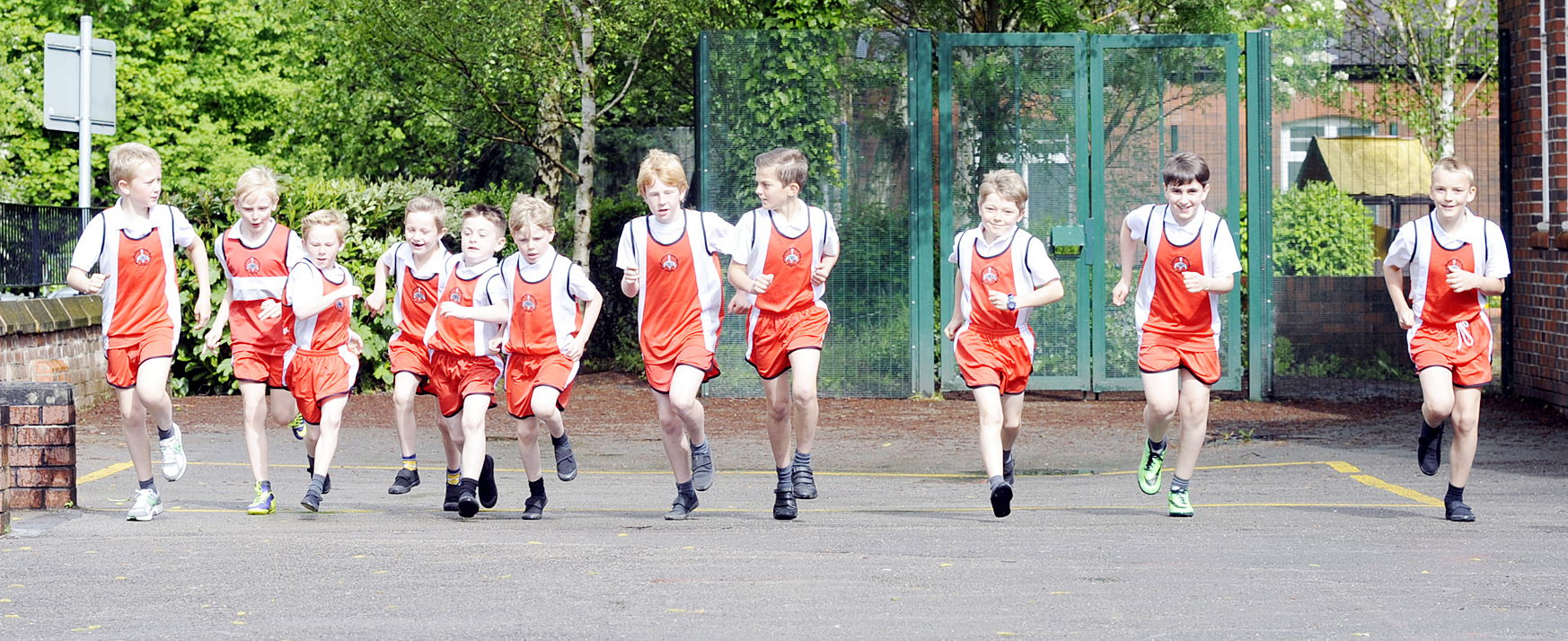 St Saviour's School cross country team put the
