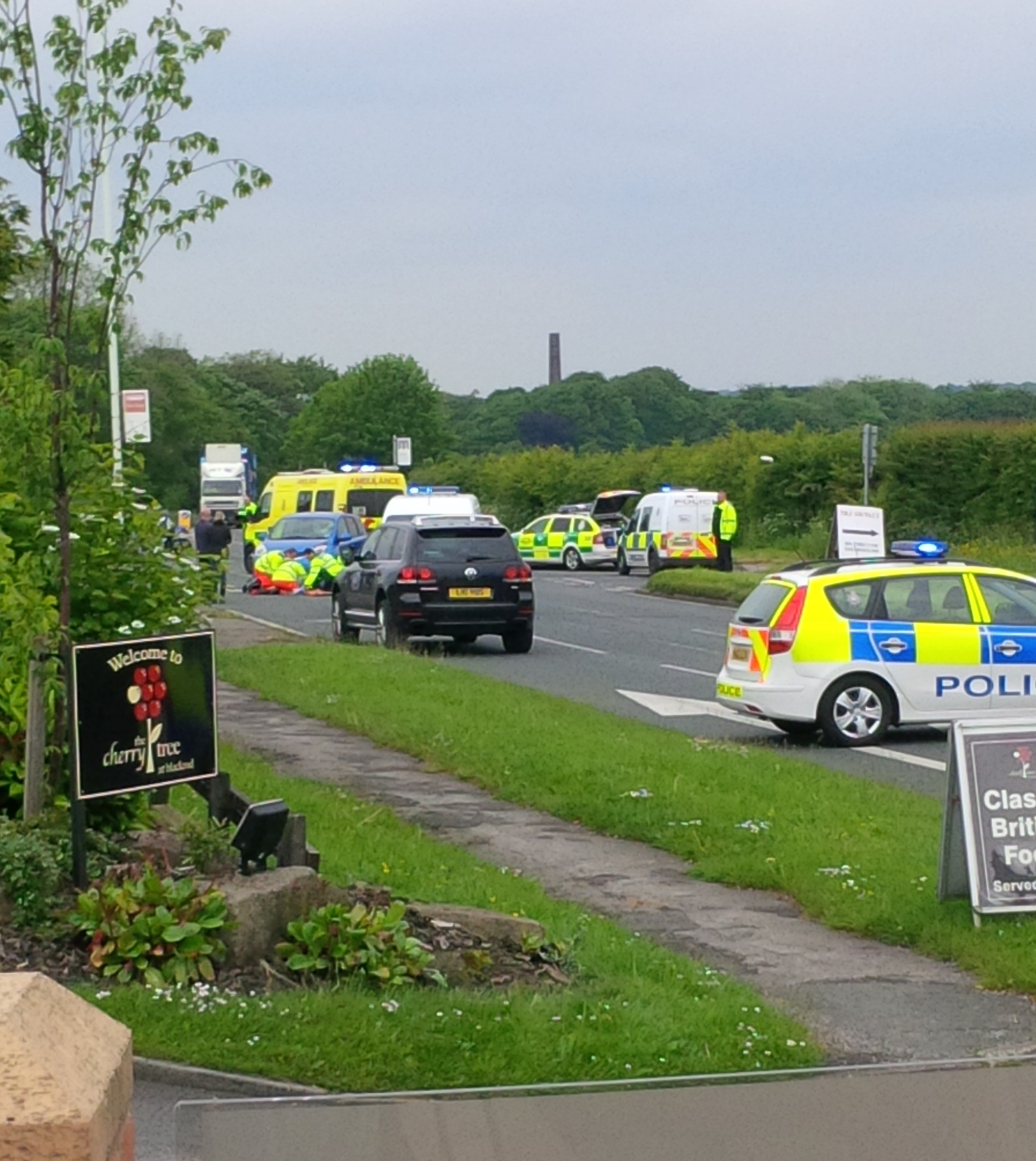 UPDATED: 87-year-old motorcyclist airlifted to hospital after crash in Blackrod