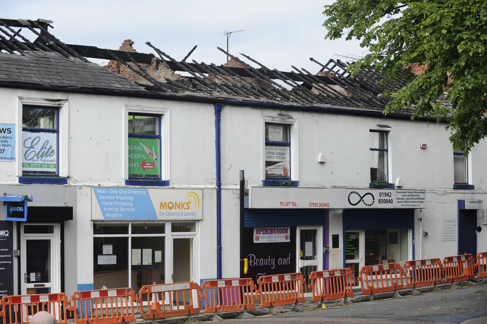 UPDATED: Fire destroys whole row of shops in Westhoughton