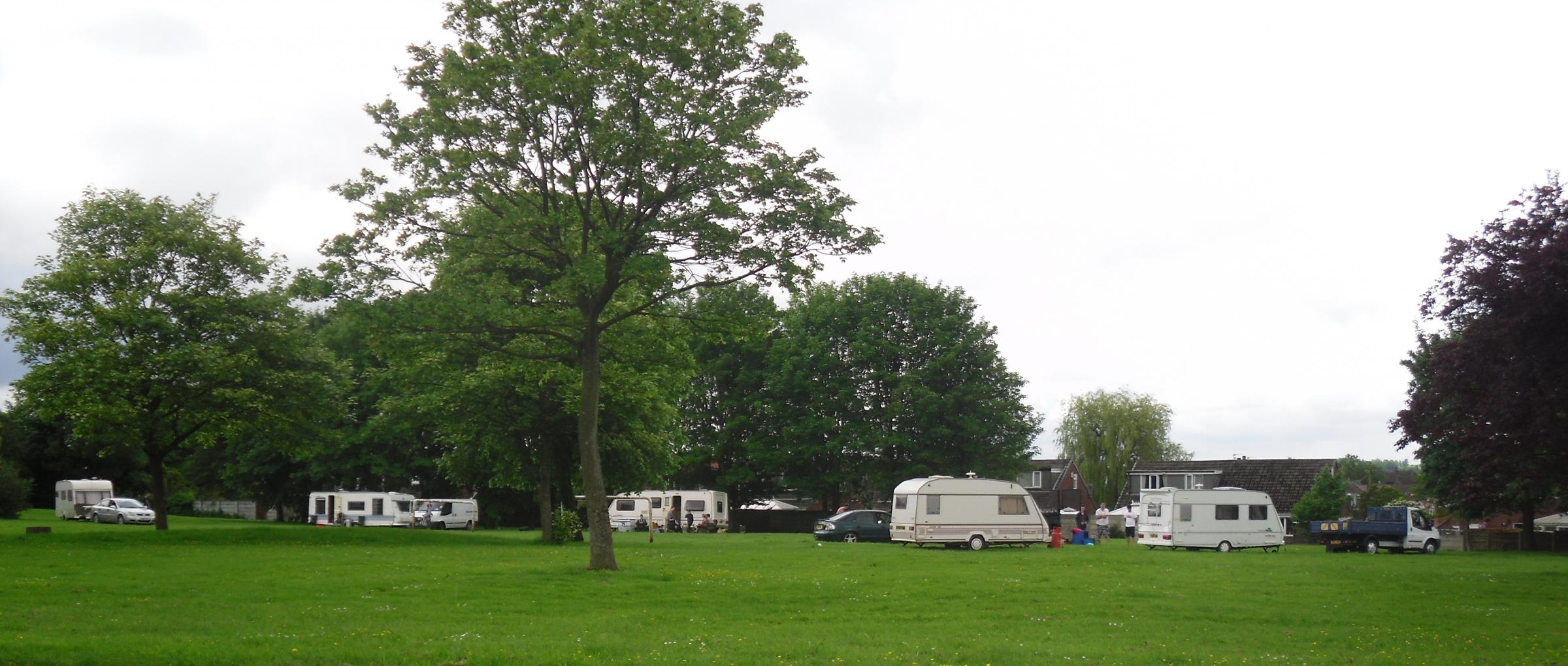 Travellers set up camp in Little Lever