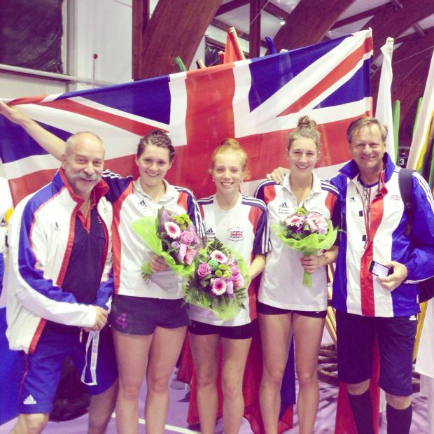 The Bolton News: Alice Fitton, second left, celebrates with her Great Britain team-mates