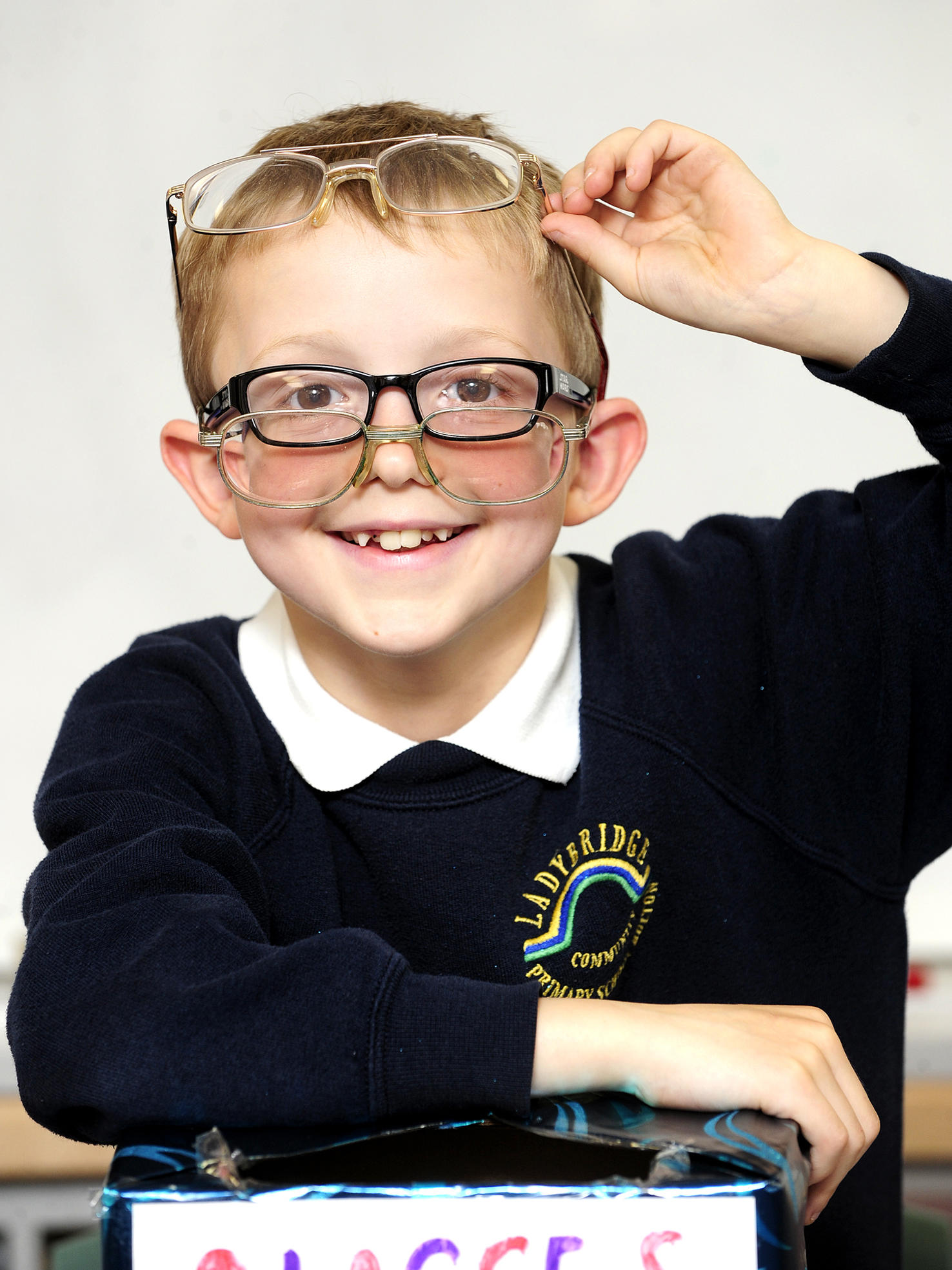 Nine-year-old boy collects glasses after being inspired by Sport Relief