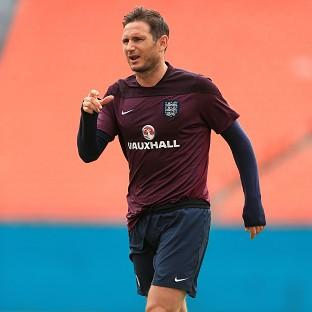 Frank Lampard, pictured, will lead England in Steven Gerrard's absence
