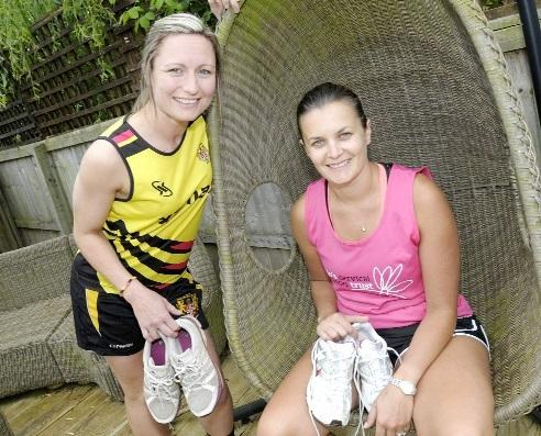Laura Beaumont, right, who will be taking part in the Tough Mudder challenge along with best friend Keli Morris, left