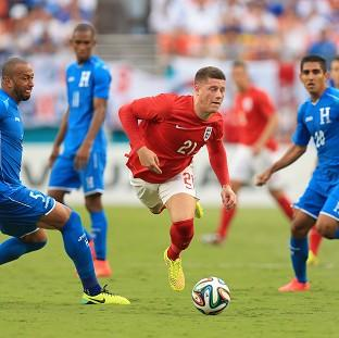 The Bolton News: Second half substitute Ross Barkley, centre, impressed for England