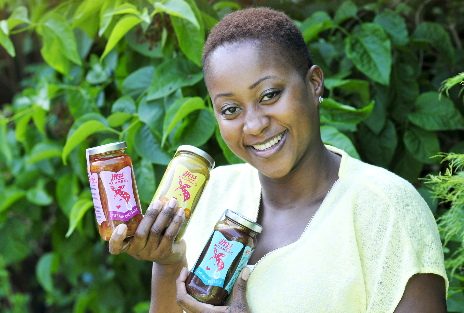 Fabrice Muamba's wife Shauna launches Mrs Muamba's Caribbean Sauces