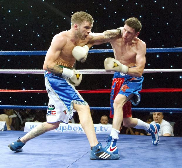 Danny Watson, left, in action on Saturday night